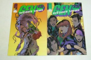 Gen 13: Ordinary Heroes #1-2 VF/NM complete series ADAM HUGHES image comics