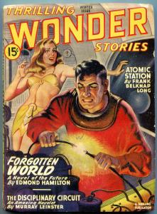 Thrilling Wondering Stories Pulp Winter 1946- Edmond Hamilton- poor