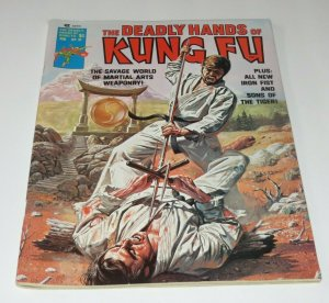 The Deadly Hands of Kung Fu #21 VF- Martial Arts Magazine Iron Fist Sons/Tigers