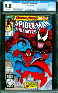 Spider-Man Unlimited #1 CGC Graded 9.8 Maximum Carnage storyline begins. 1s...
