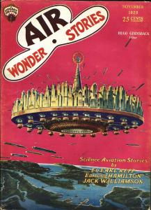 Air Wonder Stories 11/1929-Gernsback-Frank R Paul-sci-fi pulp thrills-fn
