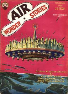Air Wonder Stories 11/1929-Gernsback-Frank R Paul-sci-fi pulp thrills-fn