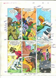 ROBIN #2 COLOR GUIDE-1980'S-ADRIENNE ROY-HAND COLORED-8 1/2 X 11-vg