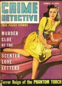 Crime Detective Magazine Summer 1943- Phantom Torch- GGA cover