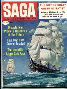 Saga Magazine October 1959-CLIPPER SHIP-SPENCER THORNTON VG/FN