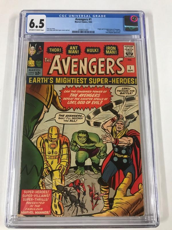 Avengers 1 Cgc 6.5 Ow/w Pages 1 Appearance And Origin Marvel Silver Age