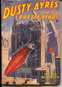 Dusty Ayres and His Battle Birds 12/1934-fantasy air war pulp hero-VG