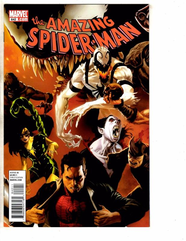 5 Amazing Spider-Man Marvel Comic Books # 642 643 644 645 646 1st Prints J269