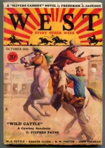 West Pulp October 28 1931- Slivers Cassidy- Wild Cattle VG/F