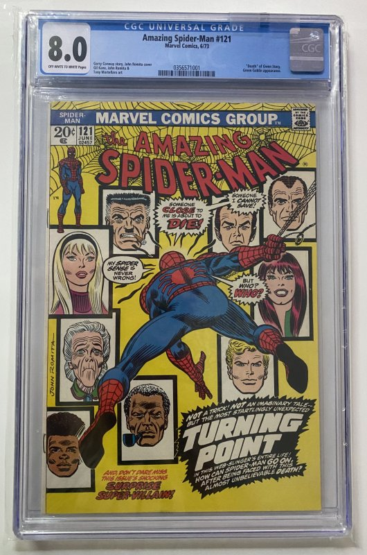 The Amazing Spider-Man #121 (1973) CGC Graded 8.0