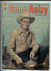 GENE AUTRY #85-1954-DELL-WESTERN-PHOTO COVERS-MOVIE-TV-fr/good