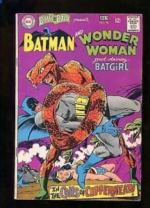 BRAVE AND THE BOLD  #78  (1968)  7.5  WHITE PAGES  HIGHER GRADE