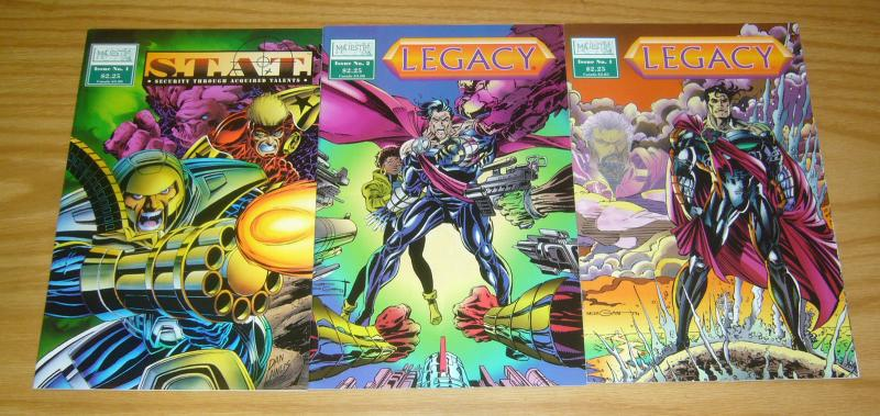Legacy #1-2 VF/NM complete set + S.T.A.T. one-shot - majestic comics series lot