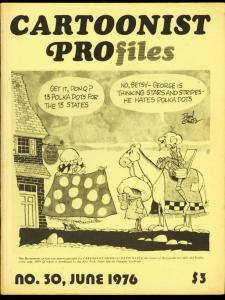 CARTOONIST PROFILES #30-1976-ALEX RAYMOND-ROY CRANE FN