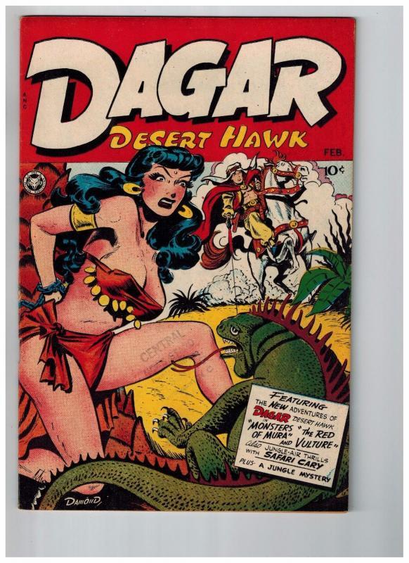 Dagar Desert Hawk # 14 NM 1948 Fox Features GOLDEN AGE Comic Book Jungle HOT JJ1