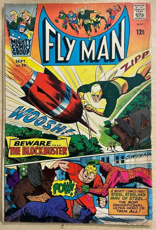 FLY MAN #39 (Archie/Mighty Comics,9/1966) VERY GOOD (VG) 1st Silver Age Sterling