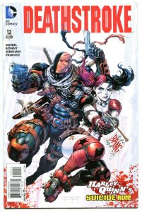 DEATHSTROKE #12, NM, Harley Quinn, Suicide Squad, 2015, hitman, more in store
