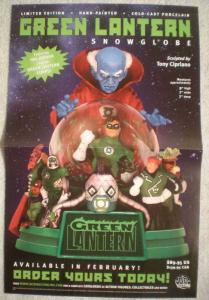GREEN LANTERN SNOWGLOBE Promo poster,  11x17, Unused, more Promos in store