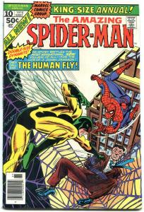 AMAZING SPIDER-MAN ANNUAL #10-1976-MARVEL-human fly VG/FN