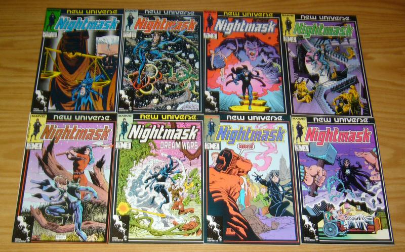Nightmask #1-12 VF/NM complete series ROY THOMAS new universe marvel 1986 set