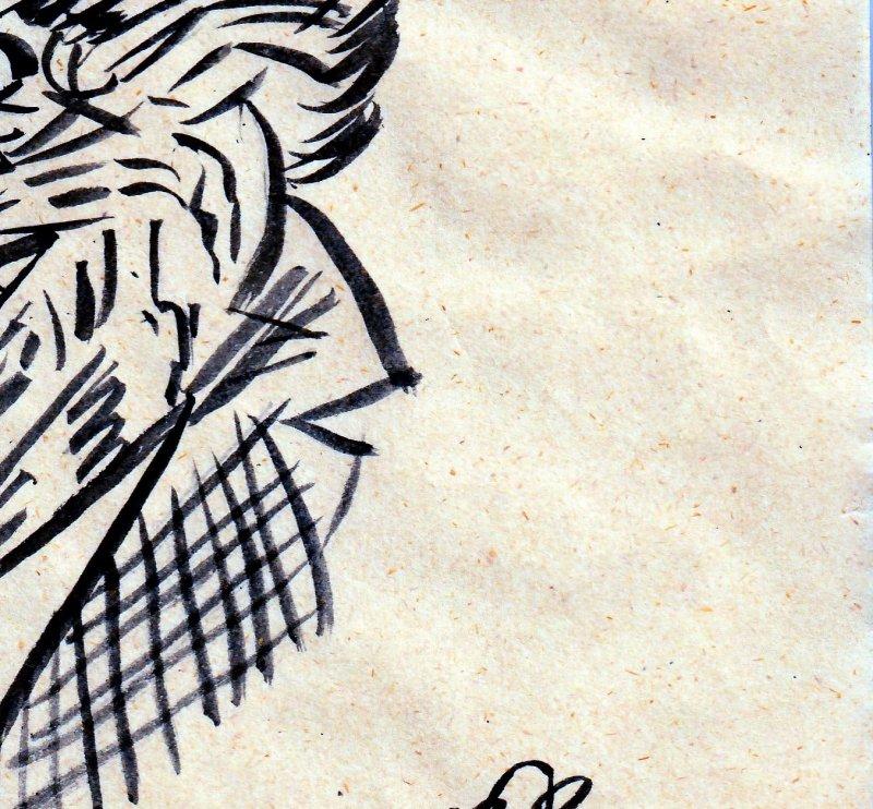Autographed Bob Kane Original Artwork(No C.O.A.)