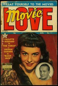 Movie Love #4 1950- Famous Funnies- Paulette Goddard- George Saunders FAIR
