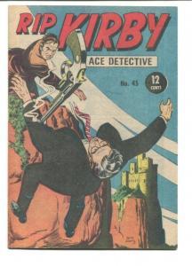 RIP KIRBY ACE DETECTIVE #45-1968-GUN FIGHT VF