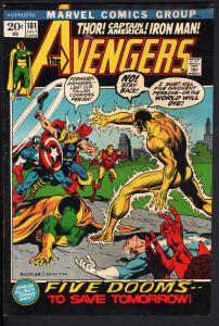 AVENGERS #101-HARLAN ELLISON-Thor-captain america-1972