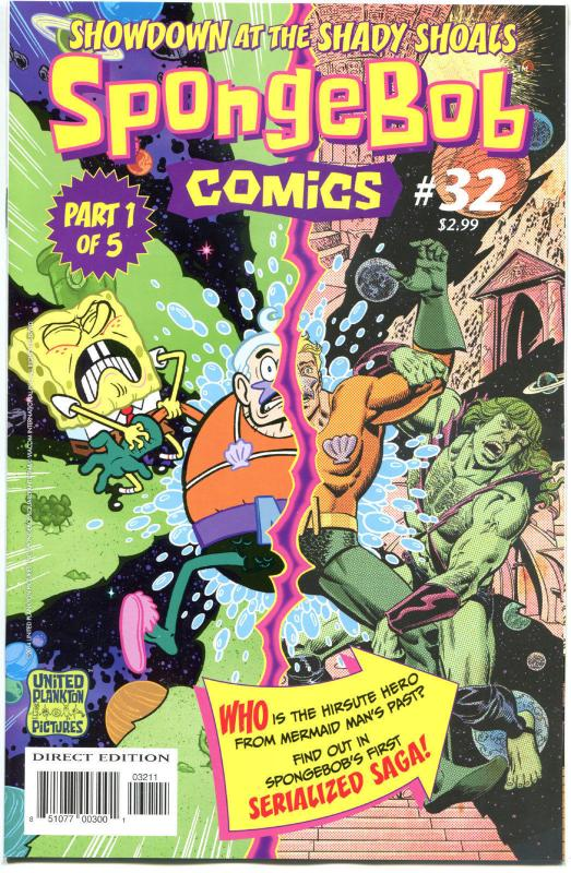 SPONGEBOB #32, NM, Square pants, Bongo, Cartoon comic, 2011, more in store