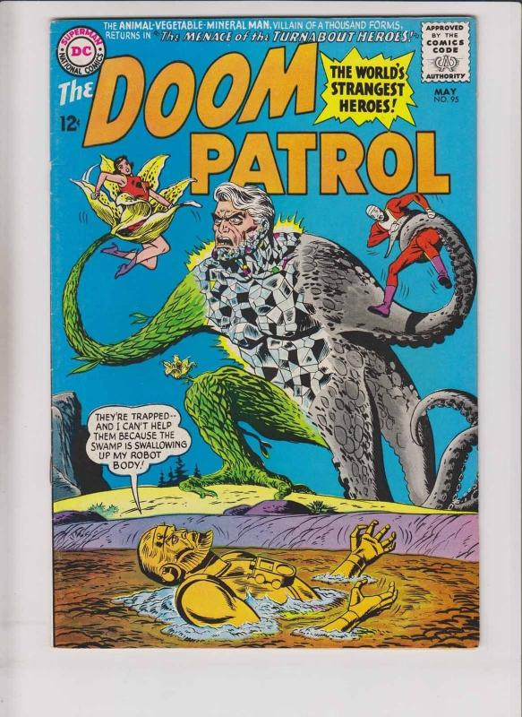 Doom Patrol #95 VG/FN may 1965 - vs animal-mineral-vegetable man - silver age DC