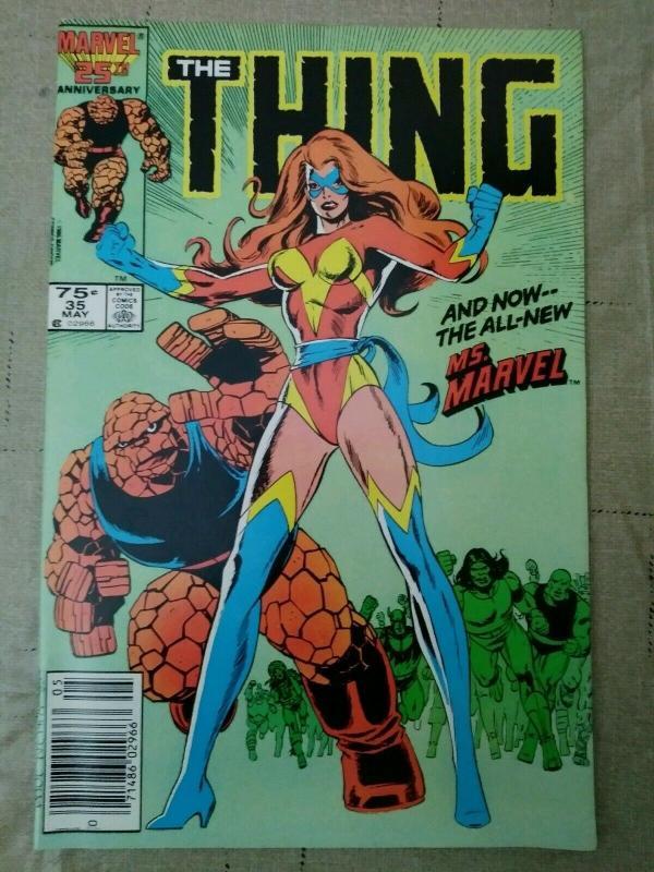 THING #35 & 36 (1986) 1st app Ms Marvel Sharon Ventura + Last Issue (#36) HTF