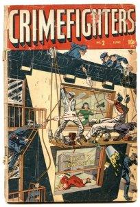Crimefighters #2 1948-Wild cover- Golden Age FAIR