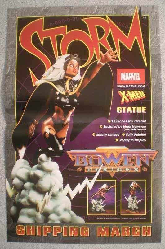 STORM STATUE Promo poster, X-MEN, 11 x17, 2002, Unused, more in our