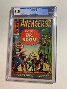 Avengers 25 Cgc 7.5 Ow/w Pages Marvel Silver Age