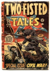 Two-Fisted Tales #35 1953- Davis cover- EC golden age war-low grade