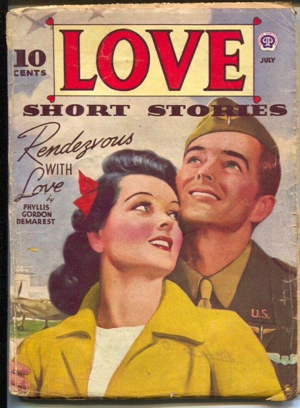 Love Short Stories 2/1949-female pulp authors-pin-up girl cover art-WWII era-VG/