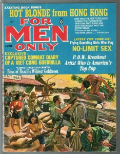 For Men Only 6/1965 Atlas-Mort Kunstler cover-Earl Norem-Craig Breedlove-FN