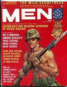 Men Magazine October 1962-BARON ELROD-RUSSIA-WWII-SPICY UNDERWEAR AD