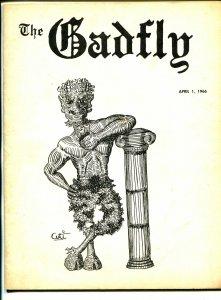 Gadfly 4/1/1966-Nick Cuti-Hofstra University humor mag-Al Feldstein-Thing-VG
