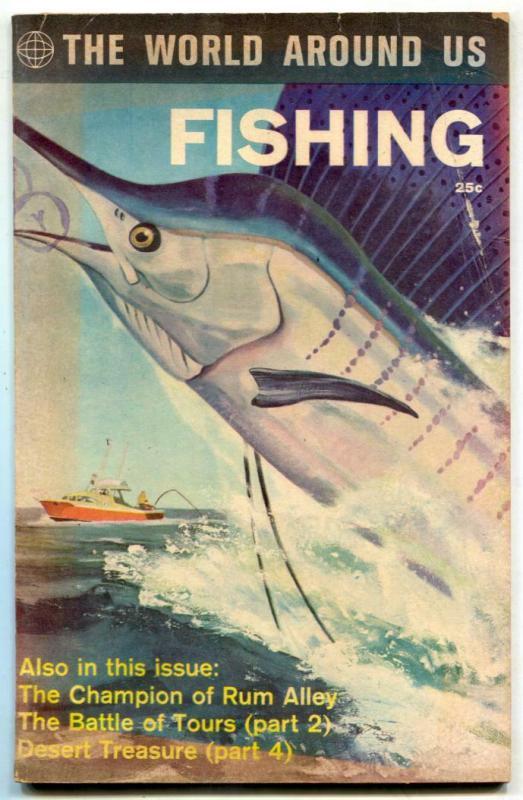 World Around Us #34 1961- Fishing- Reed Crandall VG