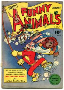 Fawcett's Funny Animals #34 1946-Hoppy The Marvel Bunny-Golden Age VG