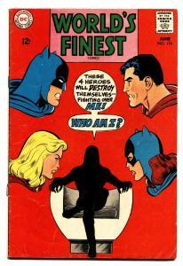 WORLDS FINEST #176 1968 Manhunter from Mars origin-Batman Superman