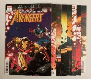 Infinite Destinies Pt 1-8 (Marvel 2021) Ron Lim Connecting Variants (9.0+)