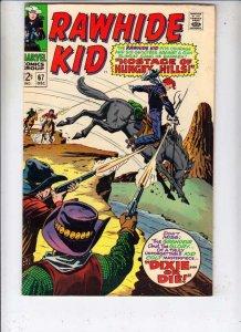 Rawhide Kid #67 strict VF 1968 High-Grade Wythville Cerfiticate 30pct BV$33.00