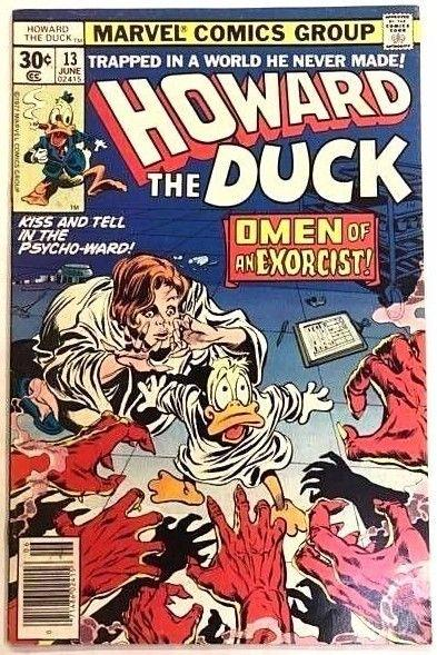 HOWARD THE DUCK#13 FN/VF 1977 FIRST KISS MARVEL BRONZE AGE COMICS