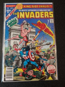 THE INVADERS #1 KING SIZE ANNUAL WW2 COVER 1977
