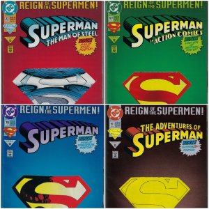 Reign of Superman 4 Issue Set (DC, 1993) NM average