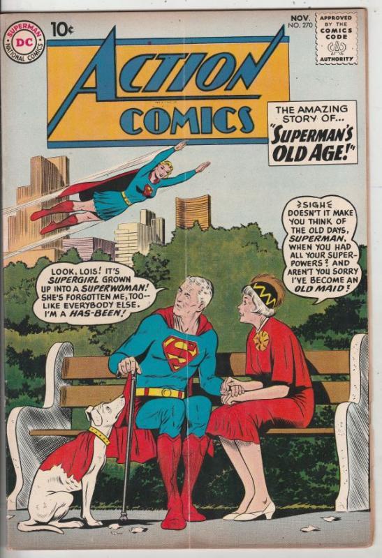 Action Comics #270 (Nov-60) FN/VF Mid-High-Grade Superman, Supergirl