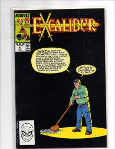 Marvel Comics Excalibur #4 Alan Davis Art, Chris Claremont Story Captain Britain
