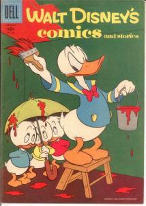 WALT DISNEYS COMICS & STORIES 196 VG-F  Jan. 1957 COMICS BOOK